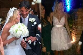 Doppio abito da sposa per Gaia Lucariello: i look per le nozze con Simone Inzaghi