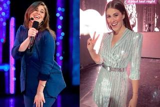"""Dalla tuta di """"Amici"""" all'abito di paillettes: com'è cambiato lo stile di Diana Del Bufalo"""