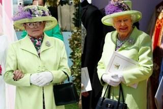 Look da Royal Wedding al GF: Cristiano Malgioglio imita la regina Elisabetta