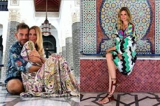 Abiti etnici e infradito senza tacco: i look di Filippa Lagerback per il viaggio di nozze