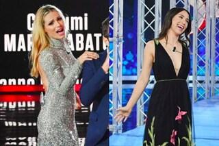 """Michelle e Aurora per l'ultima puntata di """"Vuoi Scommettere?"""": maxi scollature rivelatrici"""