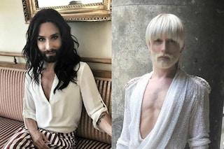 Conchita Wurst irriconoscibile: ecco il nuovo look biondo platino della cantante