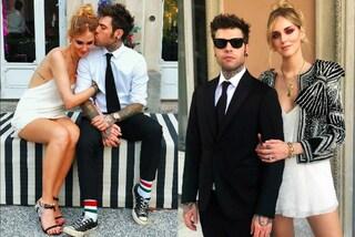 Prove di matrimonio per Fedez e Chiara Ferragni: in abiti eleganti alle nozze degli amici