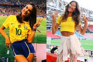 Izabel Goulard e Alessandra Ambrosio in versione tifose: sono le più sexy dei Mondiali