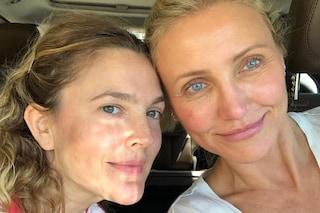 Drew Barrymore e Cameron Diaz amiche senza trucco: anche al naturale sono bellissime