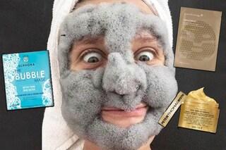 Bolle, glitter e pizzo: le maschere viso più strane