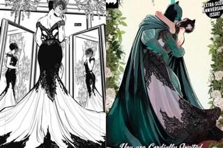 Catwoman sposa Batman: l'abito della sposa-eroina è in pizzo nero