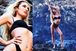 Candice Swanepoel in bikini dopo il parto...ma è solo un vecchio servizio fotografico