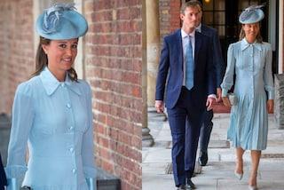 Pippa Middleton raggiante al battesimo del principe Louis: il pancione si nota appena
