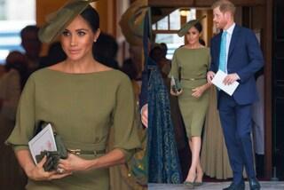 Meghan Markle in verde militare: anche al battesimo del principe Louis infrange l'etichetta