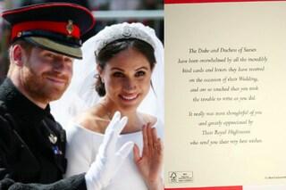 La scelta etica di Harry e Meghan: dopo le nozze biglietti di ringraziamento sostenibili