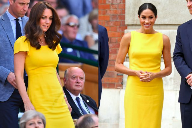 554b7062bb7b Ha infatti indossato un abito giallo firmato Dolce Gabbana con la gonna  lunga fino al ginocchio e le maniche a volant
