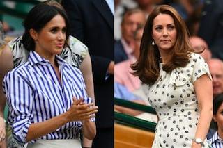 Kate Middleton e Meghan Markle insieme a Wimbledon: è sfida di stile tra Duchesse