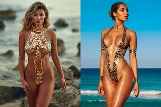 I costumi con lo scotch metallizzato: ecco i bikini più sexy dell'estate