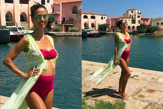 Laura Barriales incinta: anche con il pancione non rinuncia ai bikini trendy