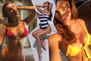 Belén, Aurora Ramazzotti e le Kardashian al mare: i costumi per copiare il look delle star