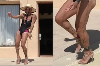 Gianluca Vacchi: quest'estate balla con tacchi a spillo e trikini da donna