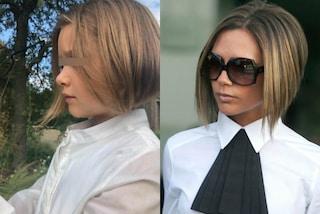 """Harper Beckham cambia look: """"imita"""" il taglio di capelli di mamma Victoria"""