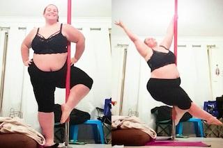 Vomitava dopo mangiato per dimagrire: la pole dance l'ha aiutata ad accettarsi così com'è