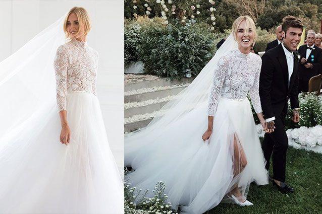 Scarpe Sposa Per Abito In Tulle.Chiara Ferragni Sposa Fedez L Abito Bianco Per Il Matrimonio A