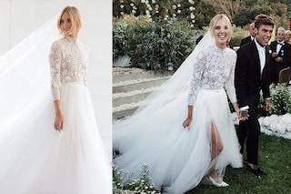 Chiara Ferragni sposa Fedez, l'abito bianco per il matrimonio a Noto è da sogno