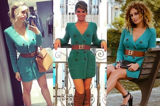 Alessandra Amoroso in verde alla sfilata: indossa lo stesso abito di altre due star