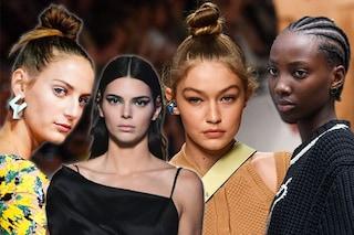 Dall'effetto bagnato allo chignon: 5 tendenze capelli dalla Milano Fashion Week