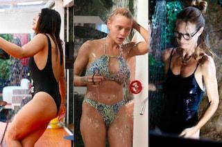 Dalla Salemi alle Provvedi: al GF Vip tutte in costume per fare la doccia