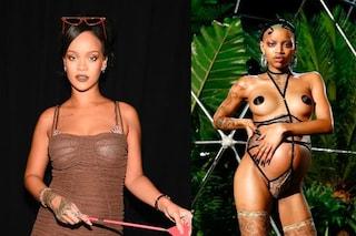 La modella entra in travaglio in passerella: Rihanna regina dell'inclusività a New York