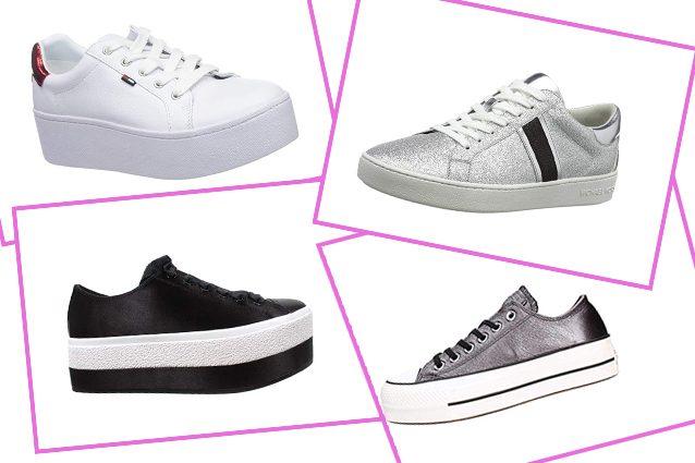 Coloro che amano le scarpe da ginnastica ma non vogliono rinunciare  all altezza di una scarpa col tacco possono indossare sneaker platform con  zeppe ... bd4bcc62e42