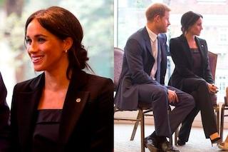 Meghan Markle in tailleur: finalmente rispetta il protocollo reale