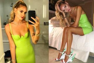 """Chiara Ferragni alle sfilate di New York: scarpe """"in fiamme"""" e capelli tirati"""