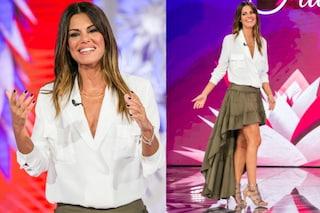 """Gonna a balze e tacchi a spillo: Bianca Guaccero debutta a """"Detto-Fatto"""""""
