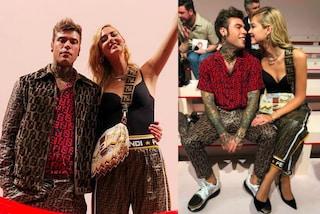 Chiara Ferragni e Fedez insieme alla Milano Fashion Week: look coordinati per i neo-sposi