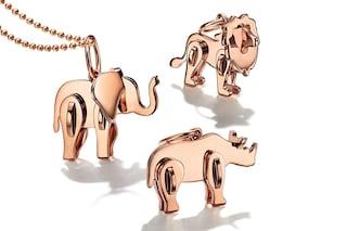 """Tiffany&Co., arrivano i nuovi charms """"wild"""" a forma di elefante e leone"""