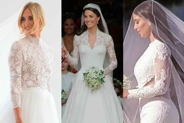 Abiti Da Sposa Costosi.Dalla Ferragni A Kate Middleton Le Star Che Hanno Indossato Gli