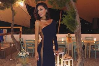 Anna Tatangelo, per le nozze da invitata... niente slip