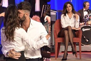 Belén Rodriguez e Fabrizio Corona, il ballo in bianco e nero al Maurizio Costanzo Show