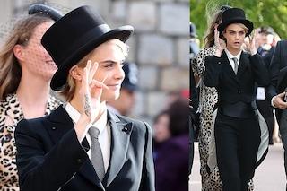 Cara Delevingne vestita da uomo: è lei la più cool al matrimonio di Eugenie