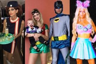 I Ferragnez supereroi, la Crawford hostess: i costumi di Halloween più assurdi delle star