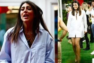 Giulia Salemi al GF Vip: camicie da uomo indossate come un abito per conquistare Monte