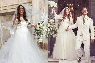 Ilenia Lazzarini sposa col pancione: corona di fiori e velo per Viola di Un Posto al Sole