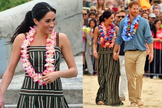 Meghan Markle incinta: piedi nudi e ghirlande di fiori per l'evento in spiaggia