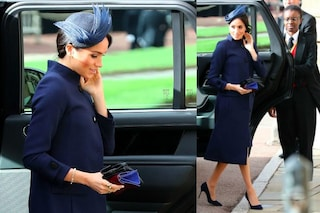 Meghan Markle incinta, così ha nascosto la pancia al Royal Wedding di Eugenie