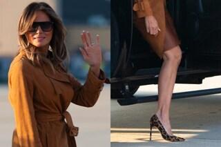 Melania Trump, visita in Africa con le scarpe leopardate