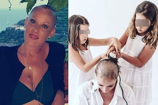 """Lotta contro il cancro, si fa rasare i capelli dalle figlie: """"Ho già vinto grazie a loro"""""""