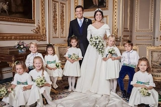 Il secondo abito da sposa di Eugenie di York: sceglie il color cipria per il ricevimento