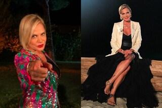 Simona Ventura, gonna a balze e paillettes per l'ultima puntata di Temptation Island Vip