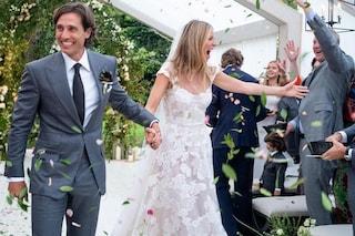 Gwyneth Paltrow rivela l'abito da sposa: Valentino firma il vestito in pizzo trasparente
