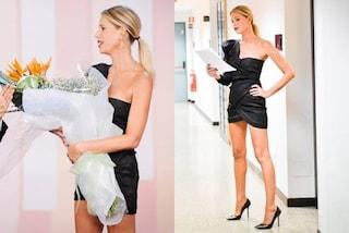 """Alessia Marcuzzi: a """"Le Iene"""" festeggia il compleanno con il sexy abito mini"""